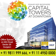 Emaar MGF Capital Tower Downtown +91 9811 999 666 offers Office space