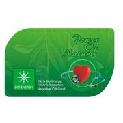 BIO ENERGY CARD IS PATTERNED FOR THE CONVENIENCE
