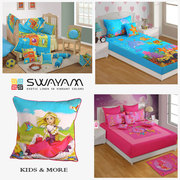 FLAT 15% OFF on Kids Curtains,  Bed Sheets,  Cushion Cover Online