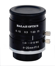 25mm machine vision camera lens--BALAJI OPTICS INDIA