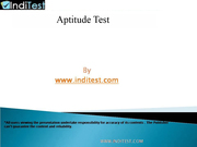 Online Aptitude test for Software development