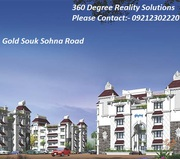 Gold Souk Sohna 1&2bhk flats for best price call 9212302220