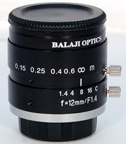 12 mm machine vision lenses (BMT-1412D) balaji optics in india