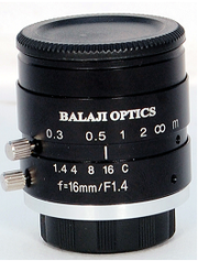 16 mm machine vision megapixel camera lenses (BMT-1416D) BALAJI OPTICS