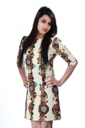 Ladyoye- Classic Clock Printed Party Dress