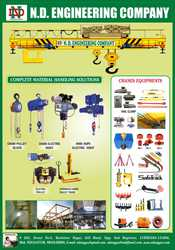 Manufacturer & Exporter of E.O.T Crane,  H.O.T Crane,  Chain Pulley Bloc