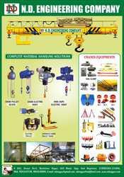 Manufacturer & Exporter of E.O.T Crane,  H.O.T Crane,  Chain Pulley Bloc