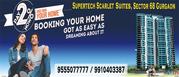 Supertech Scarlet Suites Sohna Road Gurgaon @ 9555077777