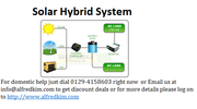Reason to buy Solar Hybrid System?