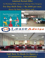 Co-Working office space starts @ Rs, 3000