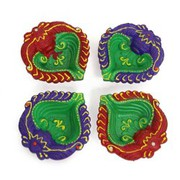 Colourful Diya Set