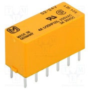 4A 24VDC DPST-NO,  DPST-NC Non Latching S Series Power Relay - S2-24VDC