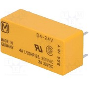 4A 24VDC 4PST-NO S Series,  Non Latching Power Relay - S4-24VDC