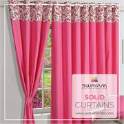 Flat 20 % Off: Give New Look to Windows & Door with Solid Curtains