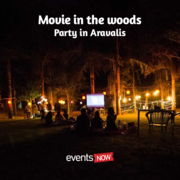 Movie in the woods - Party in Aravalis