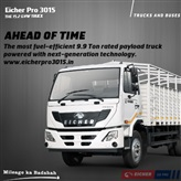 Eicher Pro 3015 - The most fuel-efficient 9.9T rated payload truck - O