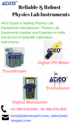 Get Best Physics Lab Equipment Manufacturer in India - Atico Export
