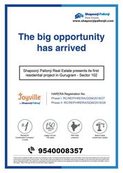 Shapoorji Pallonji   Apartments for Sale in Joyville Sector 102 Gurgao