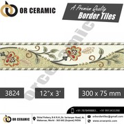 Multicolor Ceramic Digital Border Tiles Manufacturer & Exporters