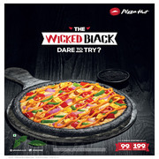 Enjoy Newly Launched Black Crust Pizza at Pizza Hut